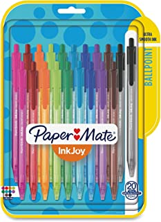 Paper Mate InkJoy Retractable Ballpoint Pens | Medium Point Pens | Writing Pens for..