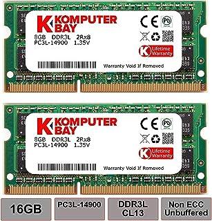 Komputerbay 16GB Kit (2 x 8 GB) 204 pin DDR3-1867 1867MHz SO-DIMM (1866MHz / 1867MHz, PC3-14900) passend für Apple iMac Retina 27