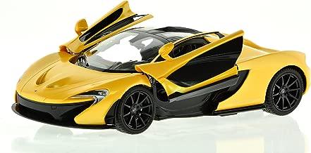 ICS CIS Automobile McLaren P1 Authentic 2.4 Ghz Rechargeable Batteries Carmel Licensed Car with Open Doors RC Vehicles (Scale 1: 14), Yellow