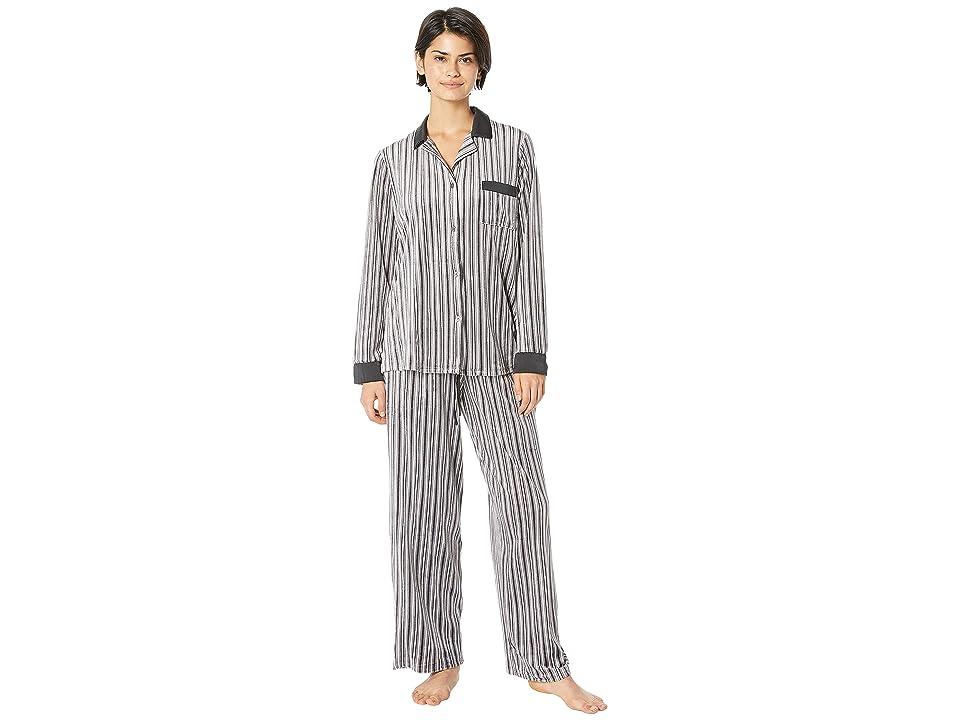 Donna Karan Notch Collar Pajama Set (Shade Sail) Women