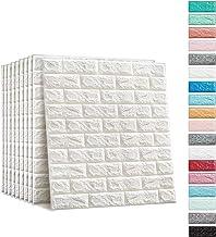 Soontrans 3D-behang, steenlook, bakstenen, vliesbehang, zelfklevende wandpanelen voor badkamer en balkon, structuurbehang ...