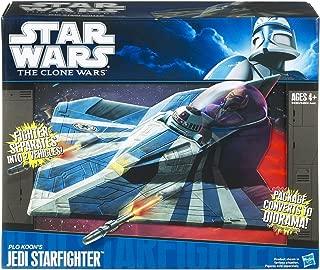 Hasbro Star Wars Clone Wars Star Fighter Vehicle Plo Koon's Jedi Star Fighter