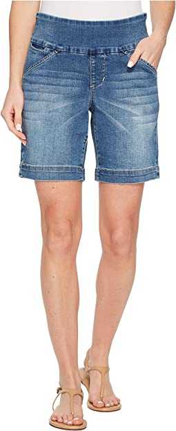 "Ainsley Pull-On 8"" Shorts Comfort Denim"