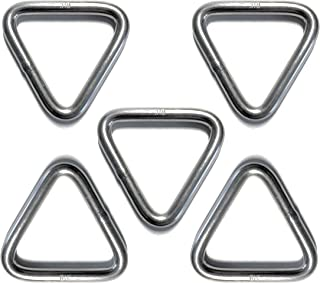 5 Pieces Stainless Steel 316 Triangle Ring Welded 1/4