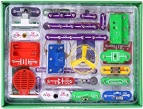 Circuits for Kids ELSKY 335 Electronics Discovery Kit, Circuits Experiments Kit, Smart Electronics Block Kit,Educational Science Kits Toy,Great DIY Building Blocks Electric Circuits Kits for Child