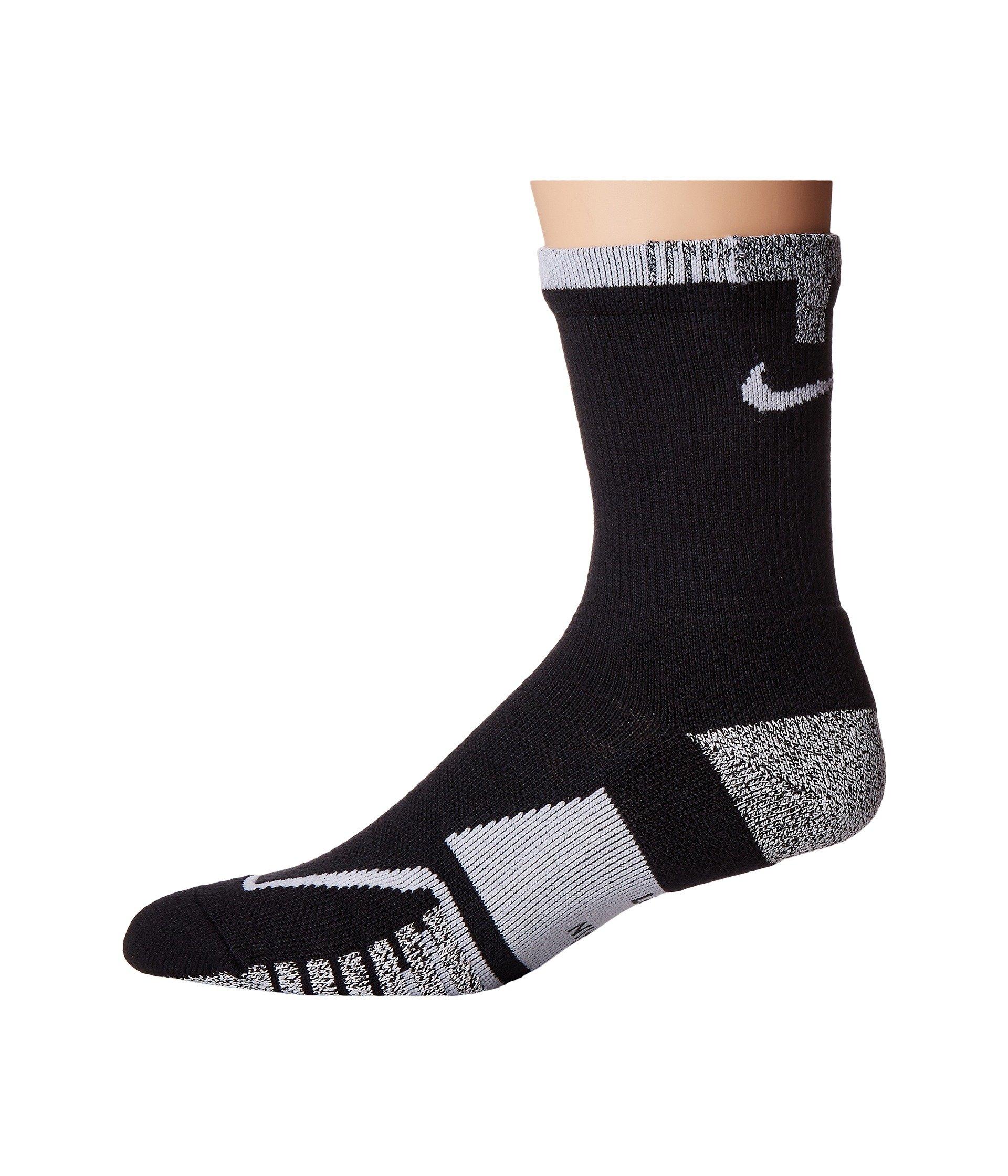 2baa89518c8d5 Nikegrip Elite Crew Tennis Socks, Black/Black/White