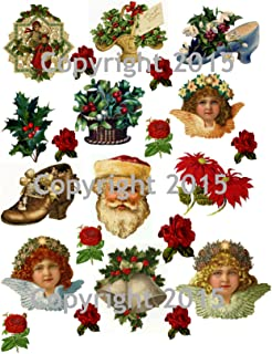 Victorian Vintage Christmas #101 Printed Collage Sheet 8.5 x 11