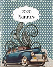 2020 Planner: Vintage Daily, Weekly & Monthly Calendars | January through December | #7 Blue | Car Automobile