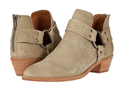 Frye Ray Harness Back Zip (Light Grey Hairy Suede) Women