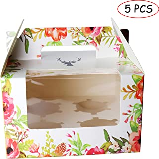 Cupcake Carrier Bakery Boxes Cupcake Boxes Cupcake Holder Containers with Window and Handle