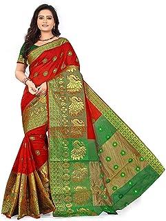 83e0bb644f Sandar Fab Women's Cotton Saree With Blouse Piece | women sarees sarees  2019 | kanjivaram silk