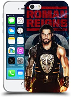 Official WWE LED Image 2017 Roman Reigns Soft Gel Case Compatible for iPhone 5 iPhone 5s iPhone SE