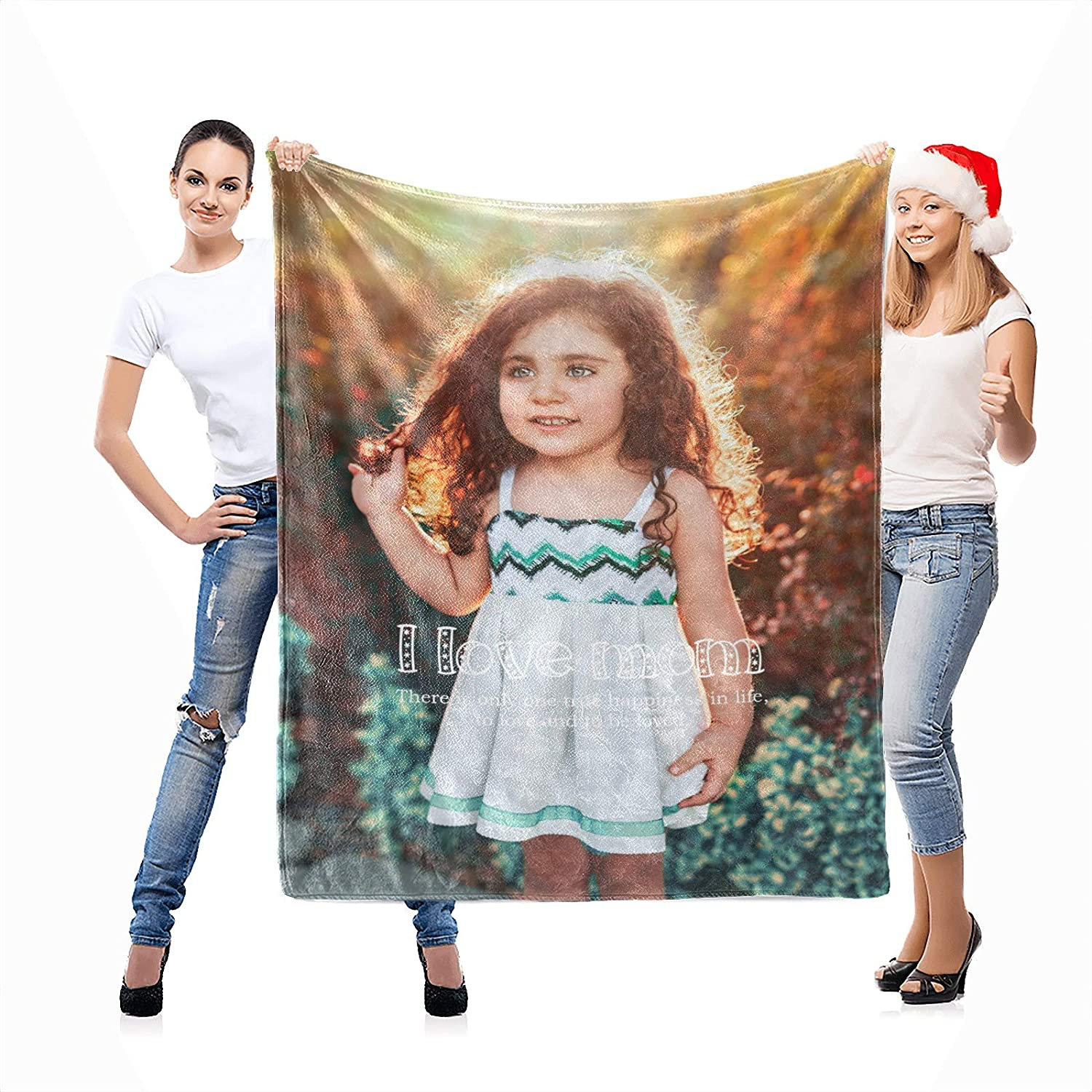 Custom Max 45% OFF Blanket with Picture Personalized Printing Throw Bl Photo All items in the store