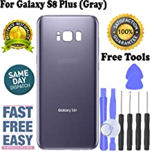 Replacement Back Glass Cover Back Battery Door w/Custom Removal Tool for Galaxy S8 Plus - Replacement (Grey)