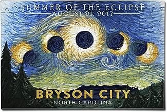 Bryson City, North Carolina - Starry Night - Summer of the Eclipse (12x18 Premium Acrylic Puzzle, 130 Pieces)