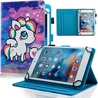 جراب Dteck مقاس 7.5-8.5 بوصة مع [قلم شاشة]، جراب جلدي رفيع بمحفظة ومسند لجهاز iPad Mini/Galaxy Tab/HD 8.3 بوصات /Huawei/Le...