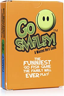 Go Smiley: Go Fish Card Game for Kids. Go Fish with Funny Faces! Adults & Teens Will Join in on The Party, Playing with The Toddlers. Classic Childrens Set for Preschool, Kindergarten, Family