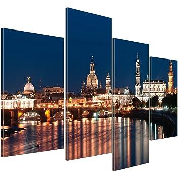HD Glasbild EG4100500095 DRESDEN STERNE PINK 100 x 50 cm Wandbild STADT