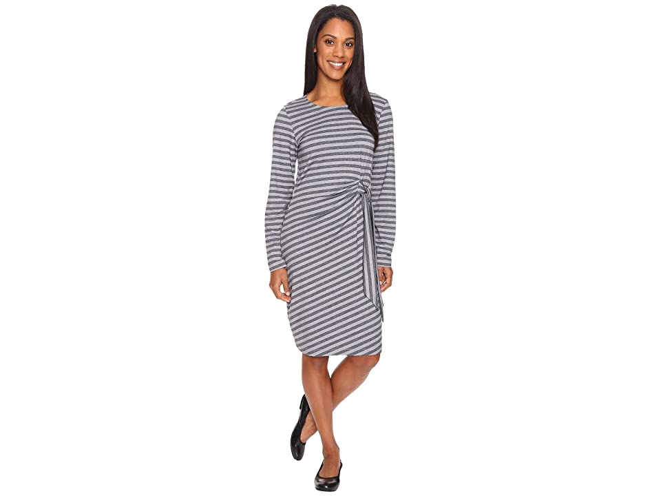 ExOfficio Wanderlux Salama Dress (Charcoal Heather Stripe) Women