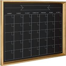 Kate and Laurel Calder Framed Magnetic Chalkboard Monthly Calendar, 21.5