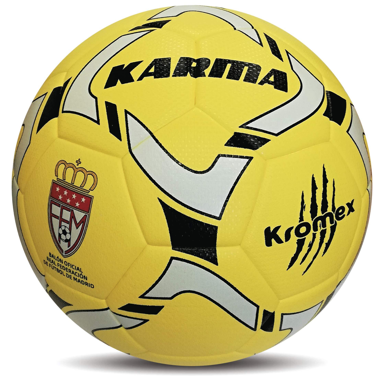 KROMEX Balón Fútbol Karma. Oficial R.F.F.M. (Amarillo, 4): Amazon ...