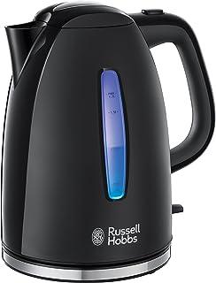comprar comparacion Russell Hobbs Textures - (Hervidor de Agua Eléctrico, 2400 W, 1.7 L, Plástico Alto Brillo, sin BPA, Negro) ref. 22591-70