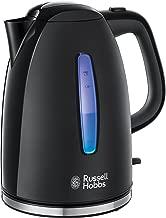 Russell Hobbs Textures 22591-70 - Hervidor de Agua Eléctrico, 2400 W, 1.7 L, Plástico Alto Brillo, sin BPA, Negro