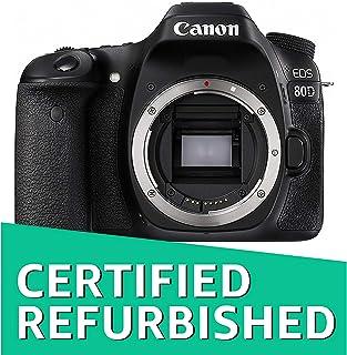 Canon EOS 80D Digital SLR Camera Body (Black) (Certified Refurbished)