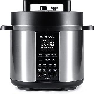 Nutricook Smart Pot 2 1200 Watts - 9 in 1 Electric Pressure Cooker, 8 Liters, 12 Smart Programs, 2 Years Warranty, Silver,...