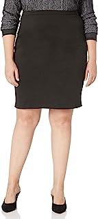 Star Vixen Women's Knee Length Classic Stretch Ponte Knit Pencil Skirt