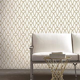 RoomMates Gold Trellis Peel and Stick Wallpaper , 20.5