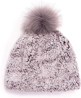 MUK LUKS Women's Sherpa Pom Hat, Frosted