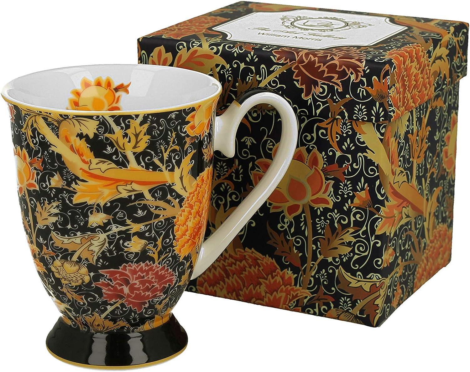 Taza y platillo Cray Floral de porcelana china de New Bone China en caja de regalo taza de t/é Duo Colecci/ón Art Gallery by William Morris capacidad 240 ml taza de caf/é