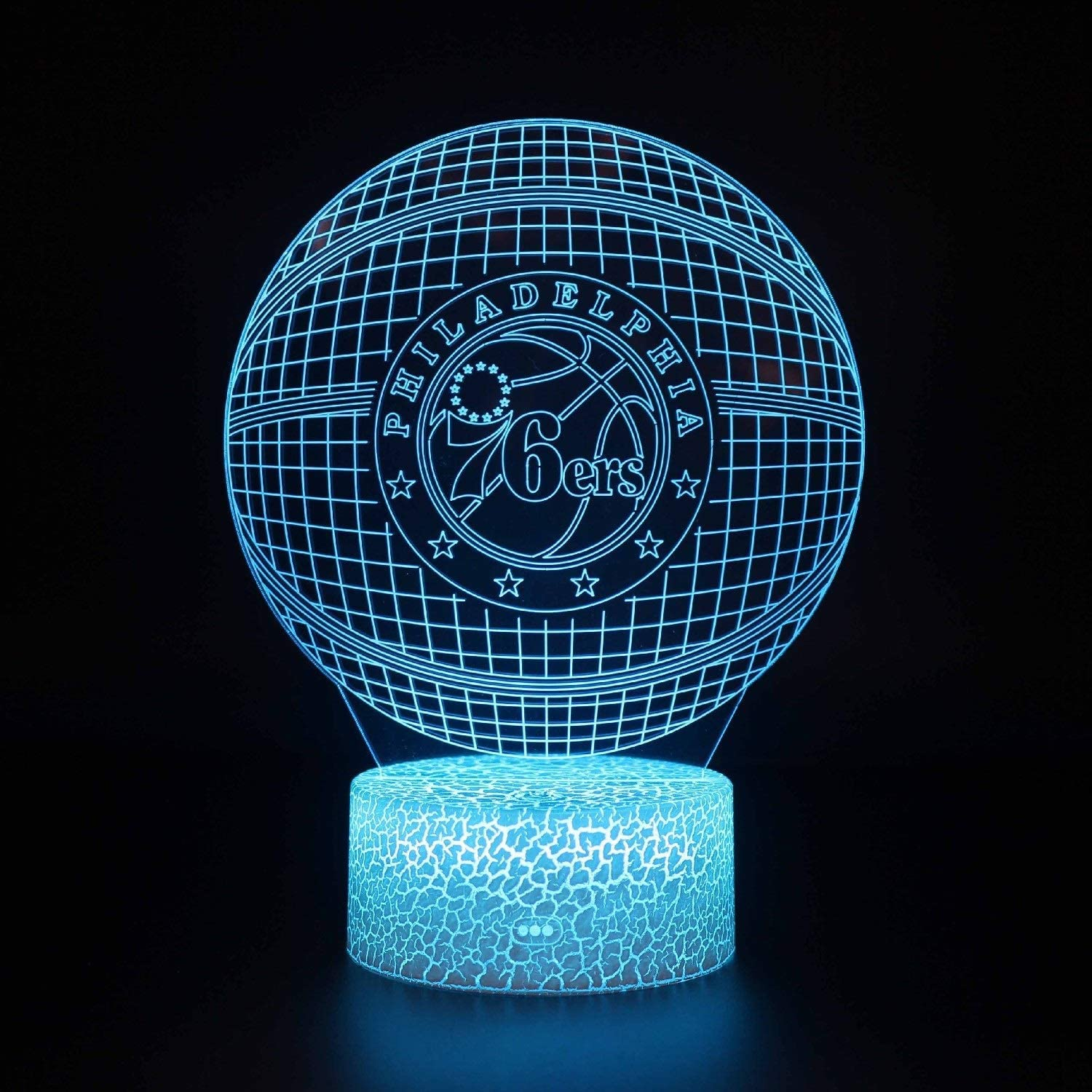 WJXBoos 3D Basketball Night Light Backboard Illusion LED Lamp for Kids 'Room Home Xmas Birthday Gifts for Boy Man Friends Smart Touch 16 Changer de Couleur (Couleur: C) 1
