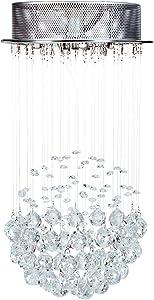 Jago Araña de Cristal | 51 Bolas Grandes y 96 Piezas Pequeñas | 25/25/50 cm | 220-240 V | Araña Coldante, Lámpara Colgante Techo, Lámpara de Cristal Colgante, Lámpara de Cristal Araña