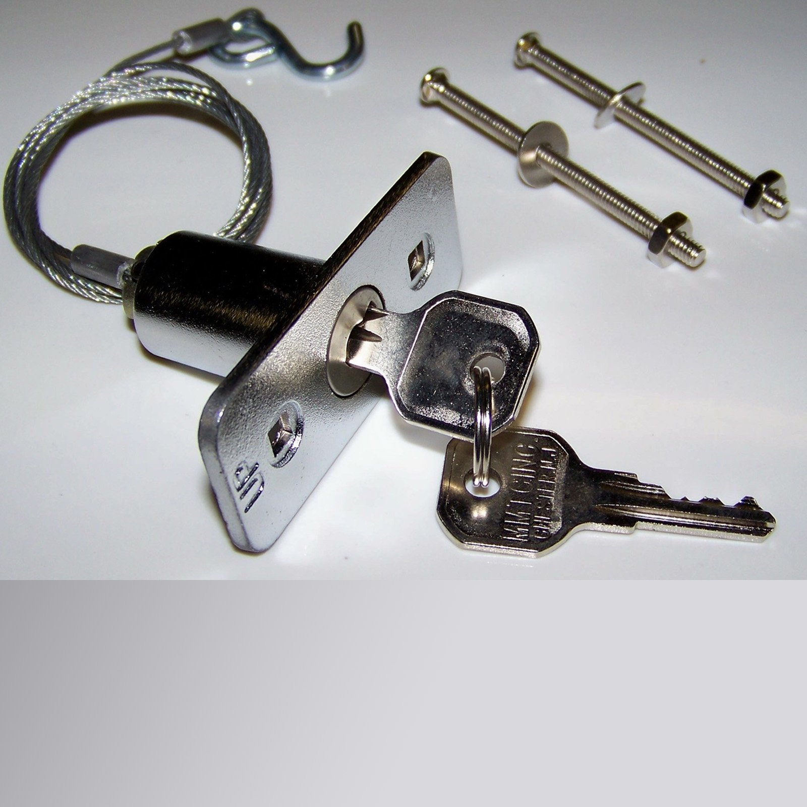 Garage Door Emergency Disconnect Release Key Lock 3 Foot Cable
