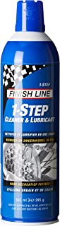 Finish Line 1-Step Bicycle Chain Cleaner and Lubricant, 8-Ounce Aerosol Spray