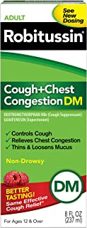 Robitussin Peak Cold Adult Cough + Chest Congestion DM (8 fl. oz. Bottle), Non-Drowsy, Cough Suppressant & Expectorant