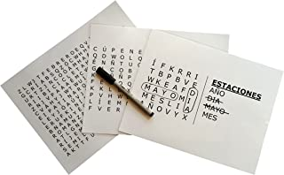 """""""Estaciones"""" Spanish Word Search Grab & Go for Dementia and Alzheimer's"""