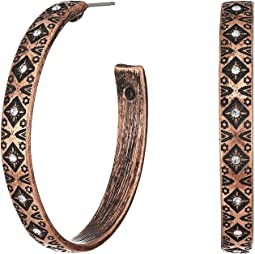 M&F Western - Aztec Hoop Earrings