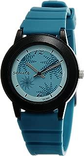 Fashion Fibre Analog Turquoise Dial Women's Watch -NJ8992PP01C