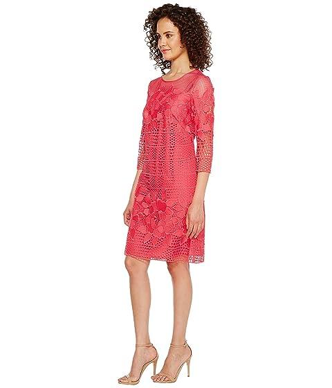 Long Papell Lace Sleeve Gardens Shift Havana Dress Adrianna PIq4C4