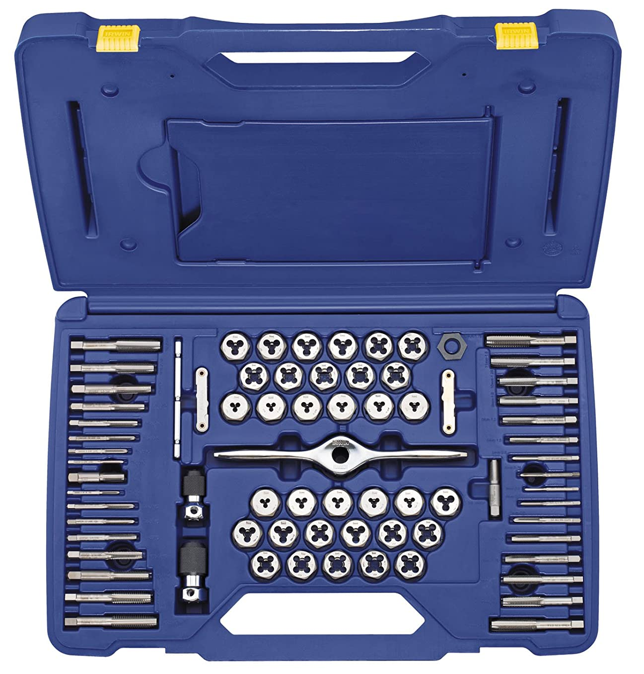 Irwin Tools 1841350 Performance Threading System Self-Aligning Tap and Die Set, 75-Piece