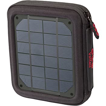 Voltaic Systems Amp Portable Rapid Solar Charger with Battery Pack (Power Bank) 6,400mAh & 2 Year Warranty | Powers Phones Compatible with iPhone, Tablets, USB, & More | Waterproof - Charcoal