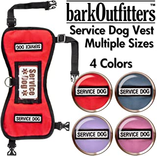 barkOutfitters Service Dog Vest Harness and 5 Sizes