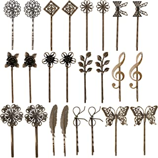 inSowni 24 Pack/12 Pairs Bronze Vintage Retro Leaf Flower Butterfly Alligator Hair Clips Bobby Pins Hairpins Barrettes Acc...