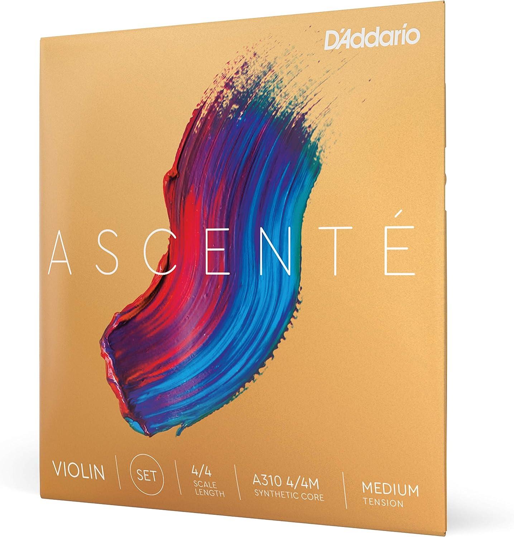 D'Addario Ascenté Violin String 5% OFF Set Scale Medium Tensio 4 Max 44% OFF