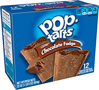 Pop-Tarts Breakfast Toaster Pastries, Frosted Chocolate Fudge Flavored, 22 oz (12 Count)