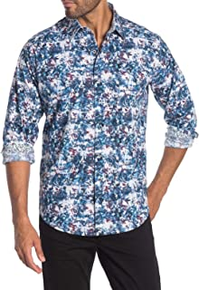 Robert Graham Men's Long Sleeve Harz Abstract Floral Sport Shirt Classic Fit