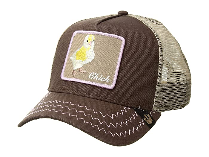 Goorin Brothers  Animal Farm Snap Back Trucker Hat (Brown Chicky Boom) Caps